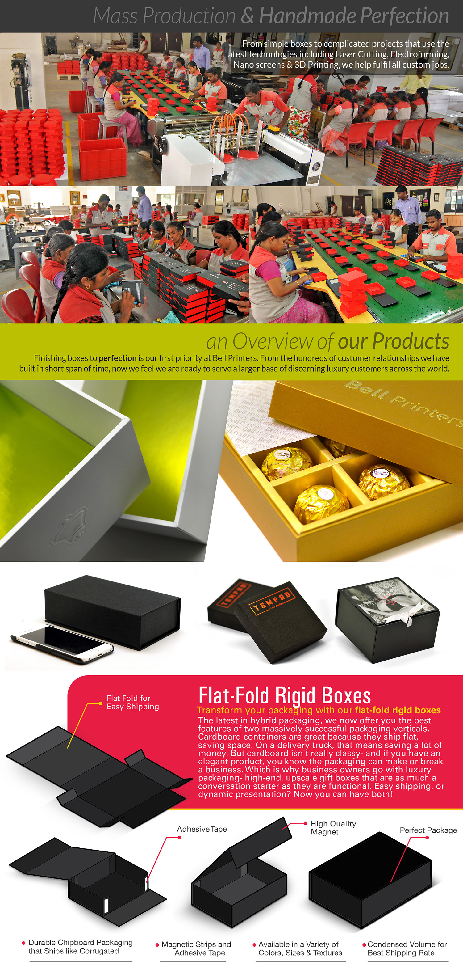 Rigid box production