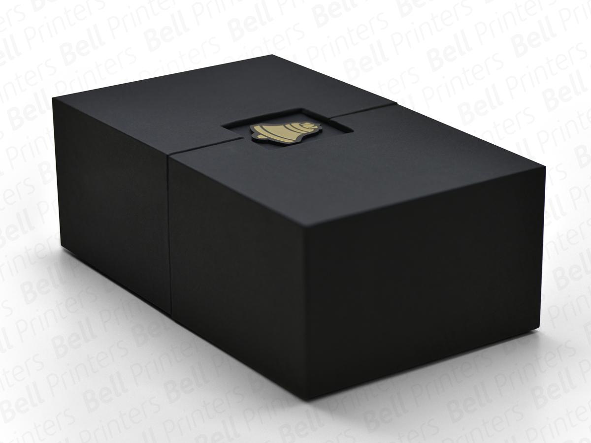 Window Open type Rigid Box with logo - rigid box