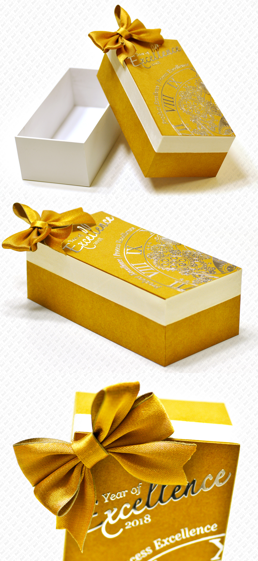 Recycled Kraft iPhone® type box with Bow