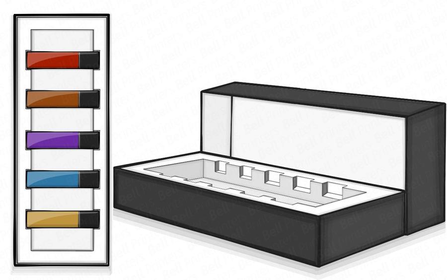 luxury nail varnish packaging boxes india | nail polish boxes